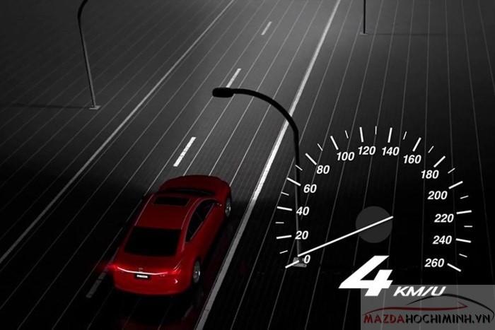 Hệ thống ALH giúp Mazda 6 tự động điều chỉnh vùng sáng thích hợp