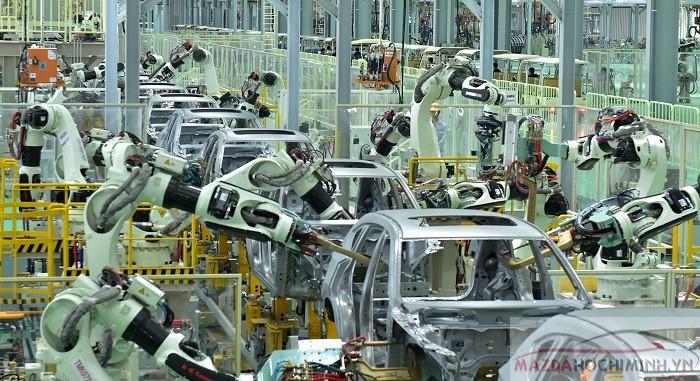 Dây chuyền hàn bằng robot với công nghệ hàn laser, 80% bằng tự động hóa