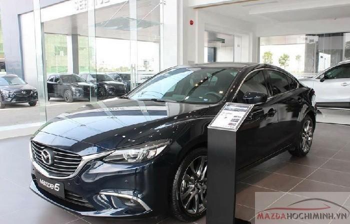 Mazda 6 bản premium trang bị hệ thống ALH giúp mở rộng góc chiếu, tự động điều chỉnh vùng sáng