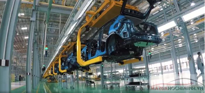 Dây chuyền tự động 80% nâng cao chất lượng tối đa cho các dòng Mazda