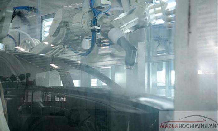 Mazda được đầu tư hiện đại với công nghệ sơn wet on wet