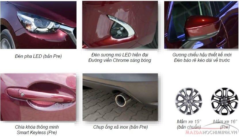 Điểm nỗi bậc ngoại thất Mazda 2 nhập Thái Lan mới ra mắt