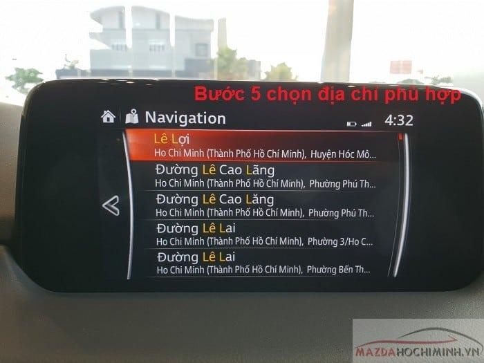 B5 chọn địa chỉ đúng với theo ý bạn muốn đến
