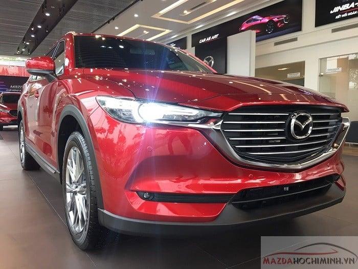 Mazda CX-8 2019 màu đỏ pha lê