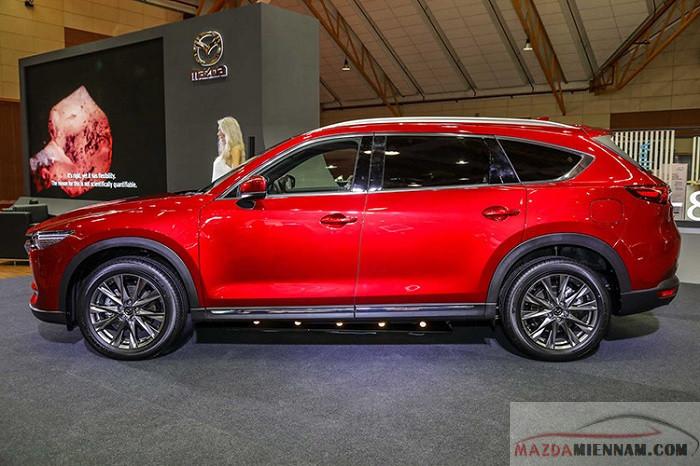 Xe Mazda CX-8 có chiều dài cơ sở lớn trong dòng xe 7 chỗ 2930mm