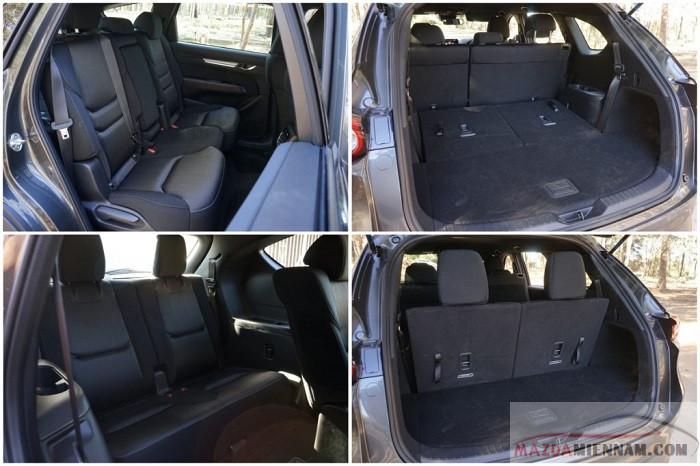 Nếu đi hết 7 người khoan hành lý Mazda CX-8 vẫn rộng rãi cho những chuyến đi chơi xa