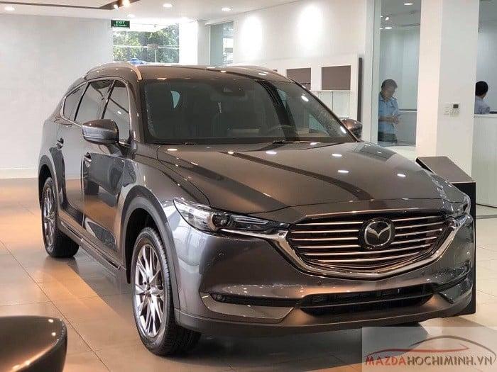 Mazda CX-8 màu xám mới