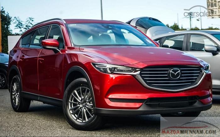 Mazda Cx8 2021 màu đỏ