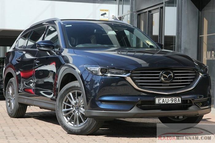 Mazda CX8 màu xanh đen
