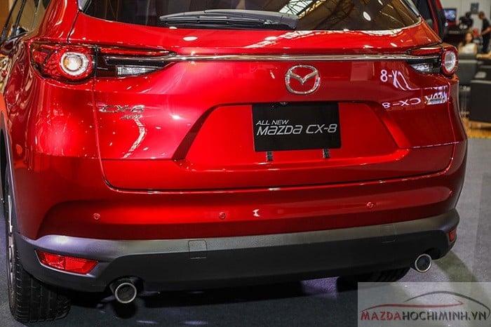 Đuôi xe Mazda CX 8 chỉnh điện ống xã kép thể thao