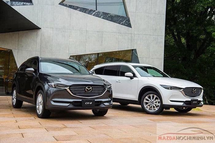 Bộ đôi màu đen trắng Mazda CX8 2019