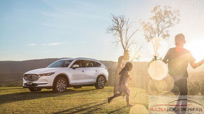 Mazda CX8 2019 màu trắng mới
