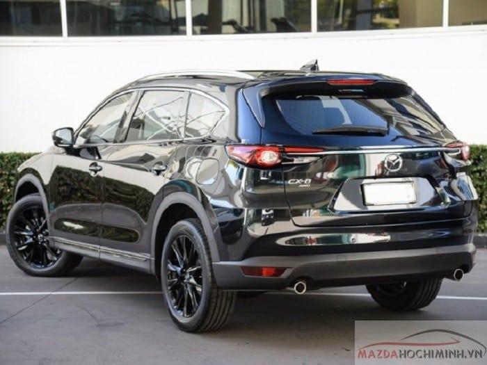 Phần đuôi xe Mazda Cx8 2019 màu đen
