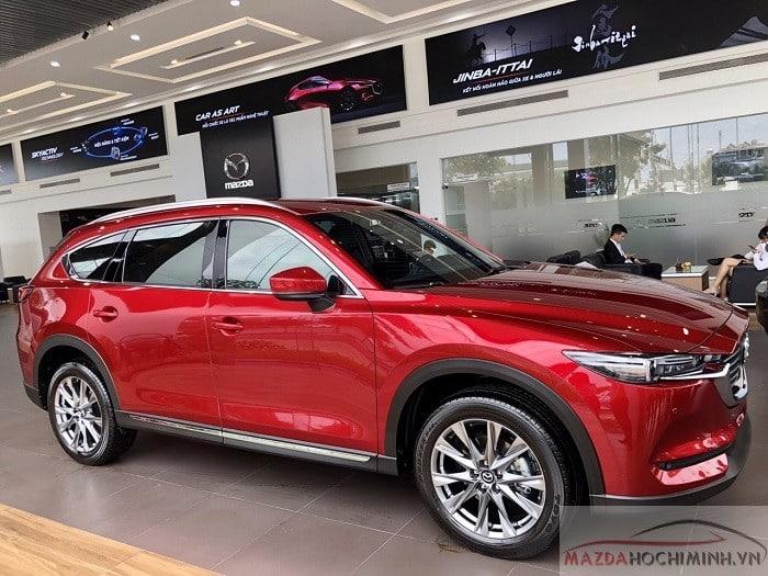 CX-8 đã được trưng bày tại showroom Mazda tại Việt Nam