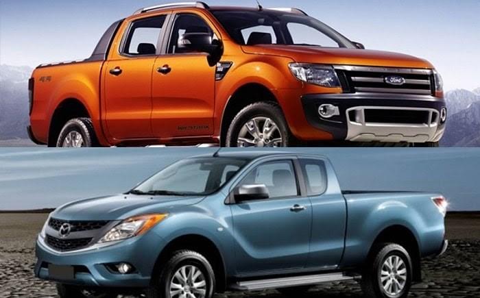 so sánh Ford Ranger và Mazda BT50