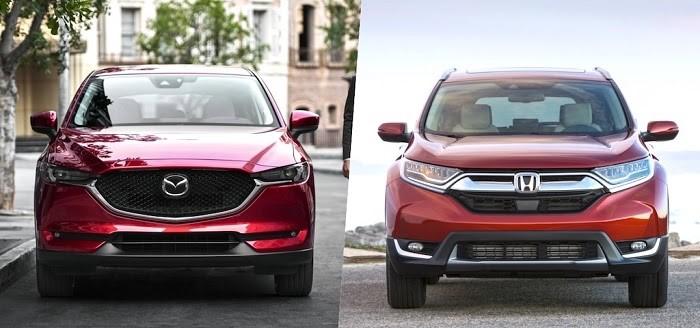 so sánh Honda CRV và Mazda CX 5