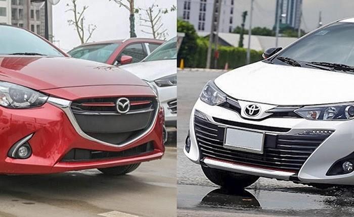 so sánh Mazda 2 và Toyota Vios