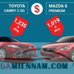 So sánh Mazda 6 và Camry: Cuộc so tài hấp dẫn