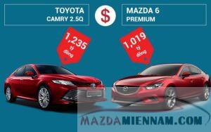 so sánh Mazda 6 và Camry