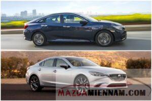 so sánh Mazda 6 và Civic