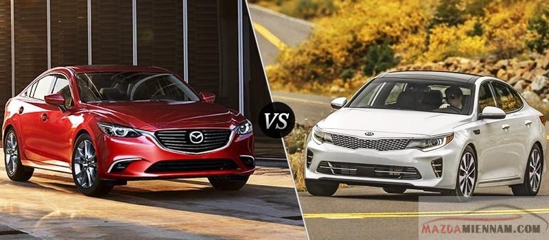 so sánh Mazda 6 và KIA Optima
