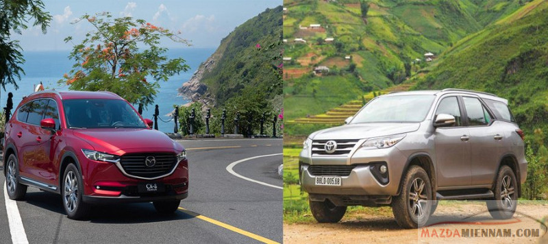 So sánh Mazda CX-8 và Fortuner