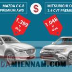 So sánh Mazda CX-8 và Outlander: Nên chọn xe nào?