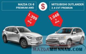 so sánh Mazda CX-8 và Outlander