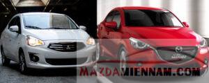 so sánh Mazda 2 và Attrage