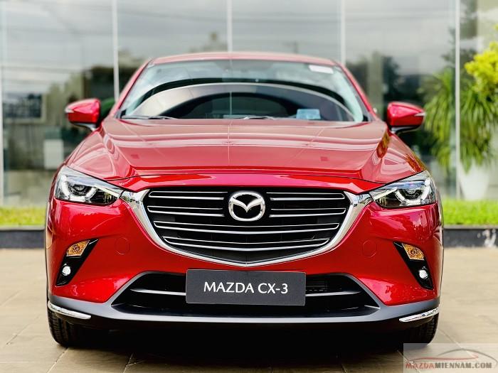Ảnh xe Mazda CX-3 màu đỏ pha lê