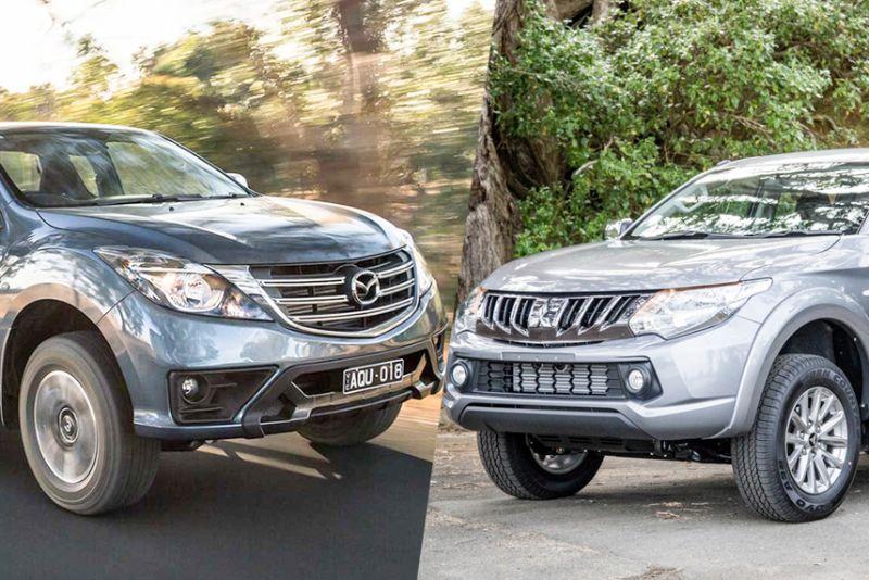 so sánh xe Mazda BT50 và Mitsubishi Triton