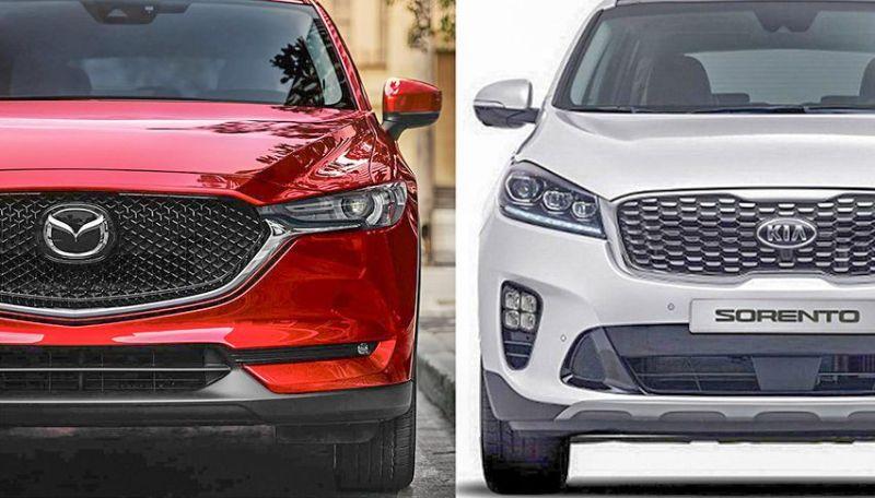 so sánh xe Mazda Cx5 và Kia Sorento