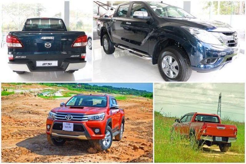 so sánh xe Mazda BT50 và Toyota Hilux
