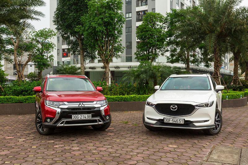 so sánh xe Mazda Cx5 và Mitsubishi Outlander