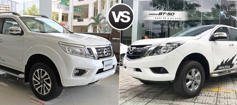 so sánh xe Mazda BT50 và Nissan Navara