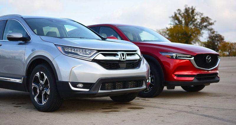 So sánh xe Mazda CX5 và Honda CRV đối đầu trực tiếp với nhau trong phân khúc xe hạng C