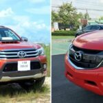 So Sánh Xe Mazda BT50 và Toyota Hilux - Chọn xe nào?
