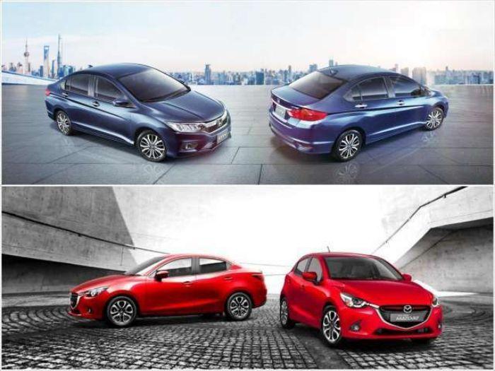 so sánh Mazda 2 và Honda Brio