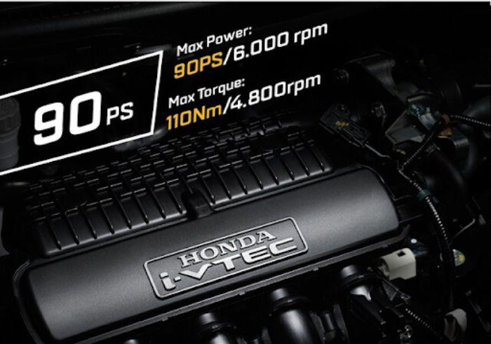 Động cơ vận hành xe Honda Brio tương đối khỏe