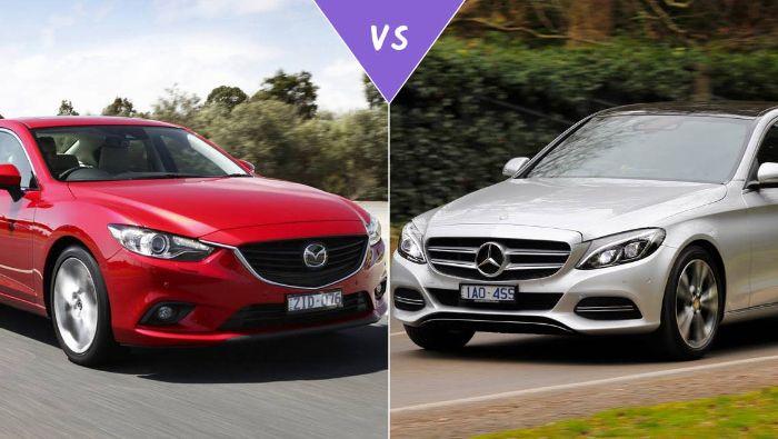 so sánh Mazda 6 và Mercedes c200