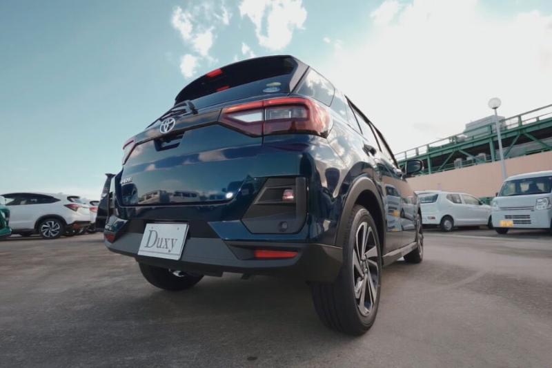 Đuôi xe của Toyota Raize All New tinh tế và gọn gàng